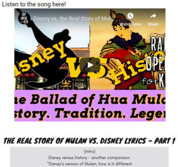 Context Clues Fiction Passage and Questions Using Rap Song, Google Forms ELA