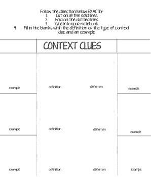 Context Clues Foldable!