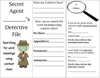 Context Clues Foldable