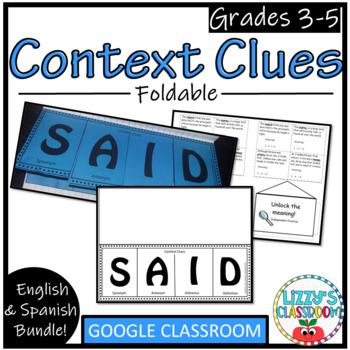 Context Clues Foldable- English and Spanish!