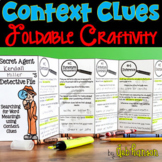 Context Clues Foldable Craftivity and Worksheets