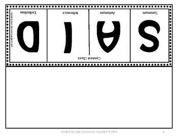 Context Clues Foldable- S.A.I.D