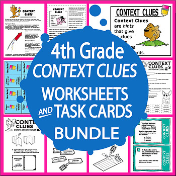 Context Clues Activities + COMPLETE Lesson, FULL COLOR Gam