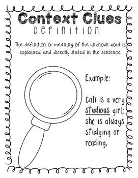 Context Clues Freebie: Definition