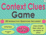 Context Clues Game #1 ~ Interactive PPT game with 20 quest