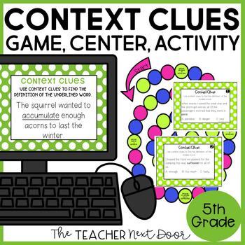 Context Clues Game | Context Clues Center | Context Clues Activities