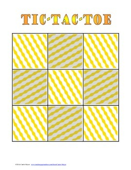 Context Clues Game: Tic Tac Toe (Intermediate Grades)