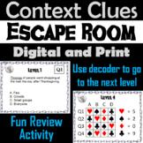 Context Clues Escape Room - ELA (Vocabulary Game)