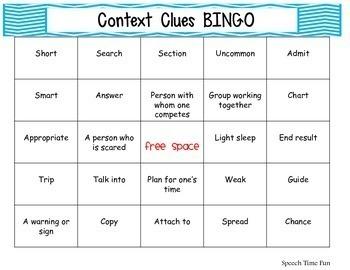 Context Clues Games