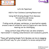 Context Clues Google Forms Quizzes- Distance Learning