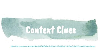 Context Clues Google Slides *Growing Bundle*