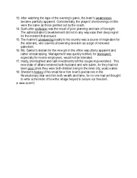 Context Clues: Grade 10, Part C