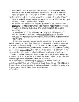 Context Clues, Grade 11, Part C