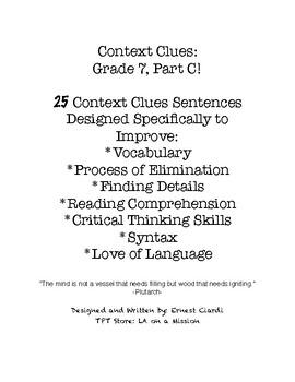 Context Clues: Grade 7, Part C