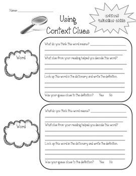 Context Clues Graphic Organizer - FREE