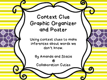Context Clues Graphic Organizer- Making inferences about the meaning of a word