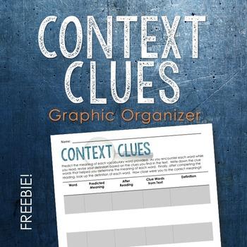 Context Clues Graphic Organizer FREEBIE (Vocabulary and Pr