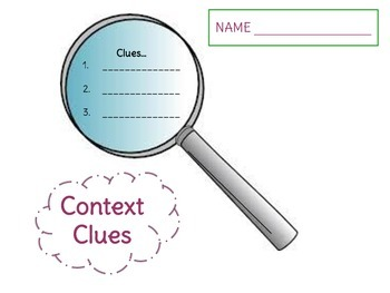 Context Clues -- Graphic Organizers