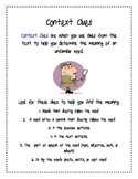 Context Clues Guidelines Poster