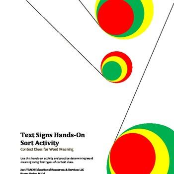 Context Clues Hands-on Sort Activity