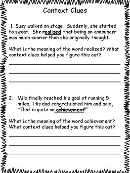 Reading and Using Context Clues