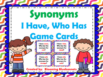Synonyms - I Have Who Has Game