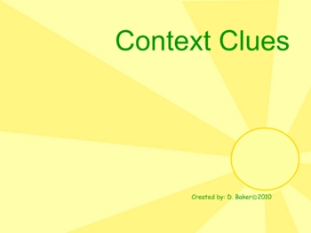Context Clues I Smartboard Practice
