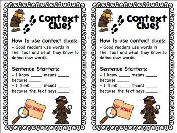 Context Clues Interactive Notebook Pages