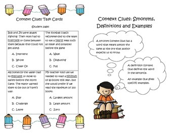 Context Clues Interactive Notebook or Journal