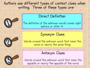 Context Clues Interactive Whiteboard Activity