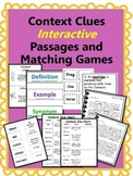 Context Clues: Interactive read passages and matching games