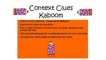Context Clues Kaboom Center