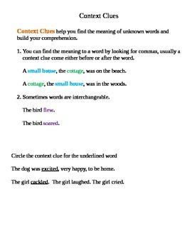 Context Clues Lesson Plan