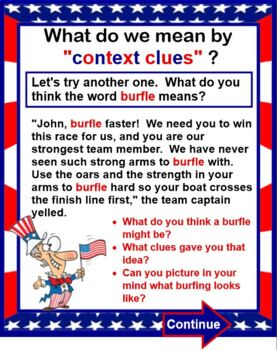 Context Clues Lesson and Game