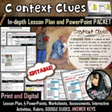 Context Clues Lesson and PowerPoint PACKET (82 pages!)