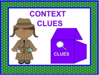 Context Clues Lesson and Printable Cards