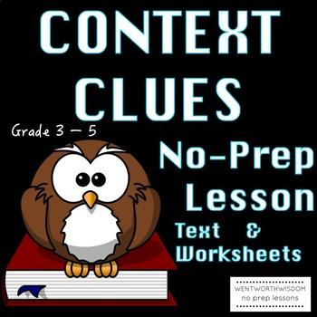 Context Clues Literacy Reading Skills Activities