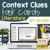 Context Clues Literature Task Cards 6th Grade I Google Sli