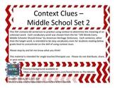 Context Clues - Middle School Set 2