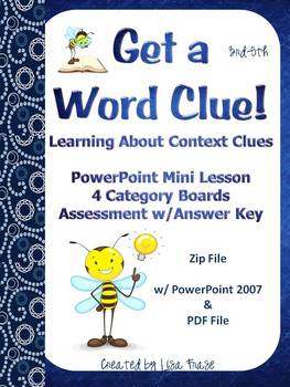Context Clues Mini Lesson, Category Boards, & Assessment 3rd-5th