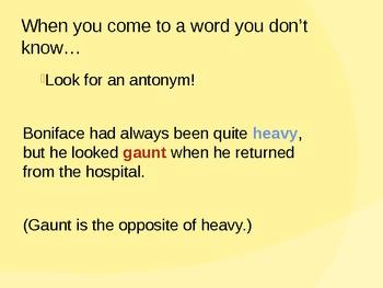 Context Clues Mini-lesson