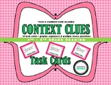 Context Clues Multiple Choice Task Cards with Graphic Orga