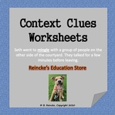 Context Clues Multiple-Choice Worksheets (6 total)