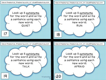 Multiple Meanings Task Cards