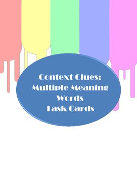 Context Clues - Multiple Meaning Words