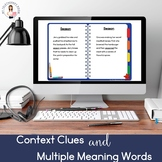 Context Clues & Multiple Meaning Words (Boom Card Lesson) (No Print)
