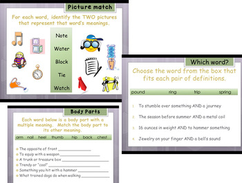 Context Clues Multiple Meaning Words Engaging Unit - Common Core Reading