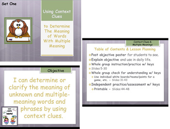 Context Clues Multiple Meaning Words Engaging Unit - Commo