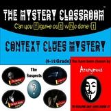 Context Clues Mystery (9-12 Grade)   The Mystery Classroom