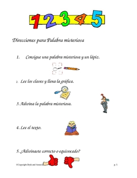 Context Clues:  Mystery Words (English and Spanish)